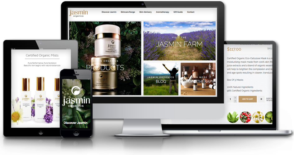 Magento web design logo - For Jasmin Organics