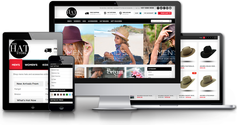 Magento web design logo - For Hats and Accessories