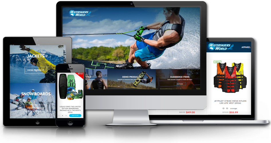 Magento web design logo - Waterskiers World