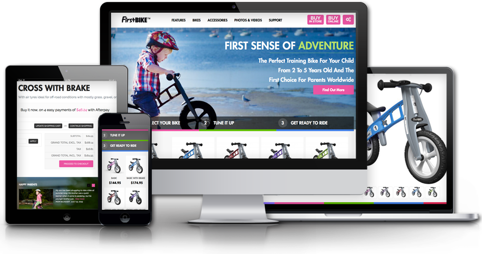 Magento web design logo - FirstBIKE