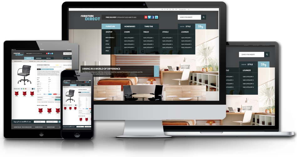 Magento web design - firniture